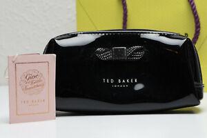 Ted Baker Metallic Bow Small Washbag / Makeup Bag - Black - Brand New with tags
