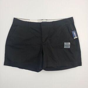 NEW Old Navy Shorts 12 Reg Womens Black Chino Khaki Outdoor Ladies Casual Cotton