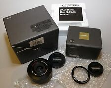Voigtlander 28mm f/2.8 Color Skopar SL II N Lens Canon EF Mount with LH-28N Hood
