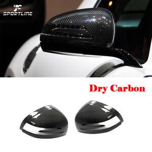 For Mercedes Benz SLK SLC SL AMG GT Side Mirror Cover Cap Add-on Carbon Fiber