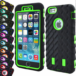 Heavy Duty Tyre Rugged Shock Proof Builder Case Cover For iPhone 7 8 6 6s Plus 5