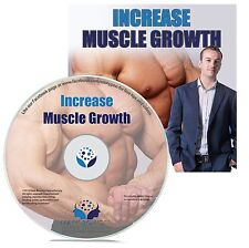INCREASE MUSCLE GROWTH HYPNOSIS CD - Mark Bowden Hypnotherapy more mass strength