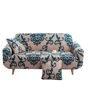 European Floral Printed Stretch Elastic Sofa Cover Slipcover Couch Protector
