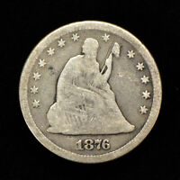 1876 25c SEATED LIBERTY QUARTER, GOOD COIN LOT#Y729