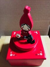 Shinzi Katoh wooden rotation music box red hood girl room from Japan New