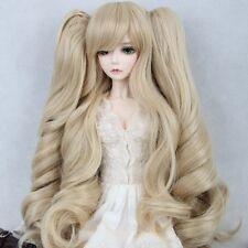 "BJD Doll Wig 8-9""1/3 SD DZ DOD LUTS Wavy Curly Harajuku Blonde Ponytails Hair"