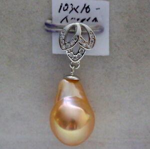 AAAAAA 16mm Japanese kasumi pearl pendant  S925