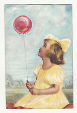 *** Fillettes / Enfants au ballon rouge *** Fantaisie _ 1931 - CPA 0467