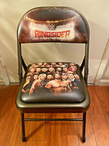 WWE Ringsider 2017 Pay Per View PPV Collectible Ringside Folding Metal Chair