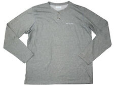 Columbia Thistletown Park Long Sleeve Heathered 2-Button Henley T-Shirt NWT