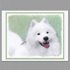 6 Samoyed Dog Blank Art Note Greeting Cards