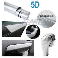 Vinilo de fibra de carbono plata 5D 150X30cm para Audi Mini carbon fiber vinyl