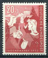 Bund 154 sauber postfrisch Bundesjugendplan BRD 1952 ex 153 - 154 MNH