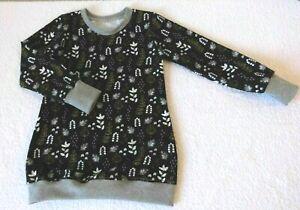 Mädchen Tunika  Longtunika  Gr.86-140 Rotkehlchen Dunkelblau Handmade