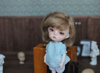 QQ-35C BJD Doll Synthetic Mohair Wig Gold Brown Color 1//12;1//6;1//8;1//4;1//3 sizes