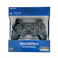 Black Official PS3 PlayStation DualShock 3 Wireless SixAxis Controller GamePad