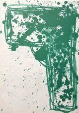 "Walasse Ting montado Ltd Litografía original, 14 X 11"" 1963 WT05 cobra interés"