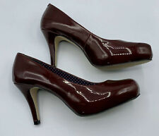 Madden Girl Getta Red Patent Leather  Platform Pumps Stilettos Heels NWOT sz 8