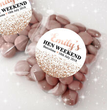 Hen Party Bag Fillers Sweet Bags & Stickers Kits Rose Gold Glitter Confetti