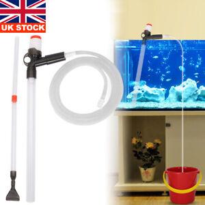 Fish Tank Cleaning Gravel Kit Aquarium Water Changer Filter Cleaner Tool Set UK