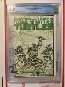 Teenage Mutant Ninja Turtles 4_CGC 8.0_wraparound cover_1st print_WHITE pages