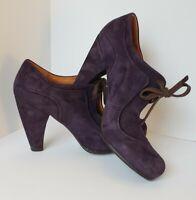 Coclico Plum Suede Keyhole Tie Pumps/Heels Women's Sz. 40 / US 9.5