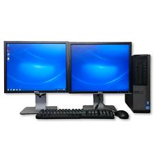 """Dell Optiplex 790 Desktop Computer PC Win 7 Intel i5 Quad Core 8GB 19"""" Monitors"""