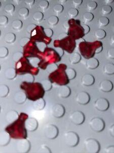 Lego Lot Of 10 Trans Translucent Transparent Red 1x1 Gem Jewel Jewels Treasure