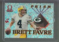 1998 PACIFIC OMEGA PRISM #8 BRETT FAVRE GREEN BAY PACKERS HOF B