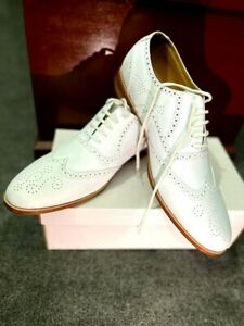 Mens Handmade Shoes Leather Brogue Wingtip Lace Up Formal Dress Casual Wear Boot