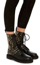Burberry Aster Eye Studded Leather Combat Boots 38 NIB (New)