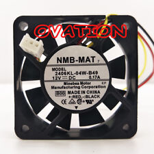 1pcs NMB 2406KL-04W-B49 Fan 12V 0.17A 60*60*15MM