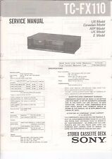 Sony-tc-fx110 - Service Manual grafico-b3189