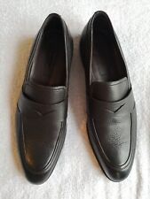 New Ermenegildo Zegna Leather Loafers Shoes Brown 11 US Italy