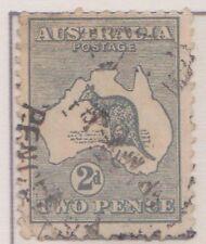 (Q19-12) 1916 AU 2d grey kangaroo inverted 3rd water mark