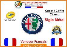 Embleme Capot / Coffre Alfa Romeo 74mm Métal NEUF sigle emblem badge logo 2015
