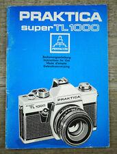 PENTACON Bedienungsanleitung PRAKTICA SUPER TL 1000 User Manual Anleitung (X7064