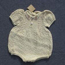 Authentique vintage grenouillère Bébé tricoté ou vêtement de poupée France -
