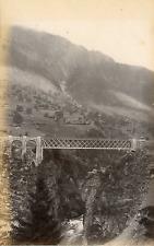 Suisse, Alpes, Pont Ferroviaire à identifier  Vintage albumin print Tirage