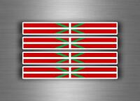4x Autocollant sticker voiture moto stripes drapeau tuning basque euskadi pays