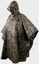Helikon hooded woodland camo ripstop military waterproof army poncho basha rain