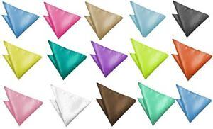 22x22cm Men's Accesory Handkerchiefs 100% Satin Pocket Square Hanky Handkerchief