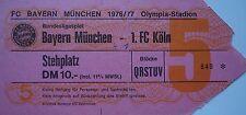 TICKET BL 1976/77 FC Bayern München - FC Köln
