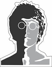 "Beatles John Lennon Music bumper sticker, wall decor, vinyl decal, 5""x 4"""