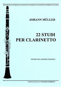 Muller Johann 22 STUDI PER CLARINETTO