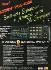 Azden PCS-4000 2 Meter FM Transceiver Ham Radio    Vtg  Print Ad