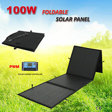 12V 100W Folding Solar Panel Kit Flexible Silicon Blanket+20A PWM Regulator 4WD