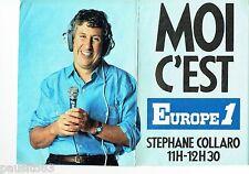 PUBLICITE ADVERTISING 116  1986   radio Europe 1 (6p) S Collaro Maryse  Gildas E
