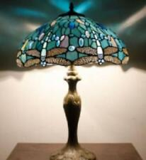Tiffany Style Table Lamp Stained Glass Handcrafted Desk Light Shade 16inch Lamps