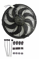 "16"" inch Wide Blade Electric Cooling Fan Black 12v 3000 CFM with Mounting kit"